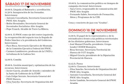 El PSOE del Alto Aragón celebra las XVI Jornadas Vilas del Tubón, centradas en la gestión municipal