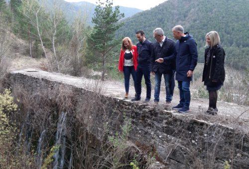 Ánder Gil se compromete con el interés general de las obras del canal de agua de boca de Jaca si el PSOE gana el 28 de abril