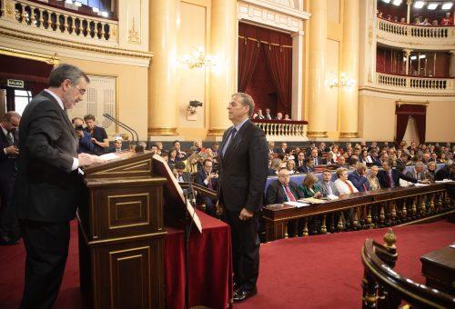 Antonio Cosculluela, Rosa Serrano, y Gonzalo Palacín adquieren su condición plena de senadores