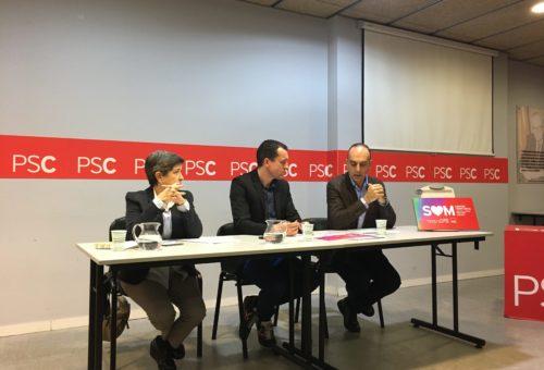 Alfredo Sancho apuesta por el diálogo como única vía para resolver conflictos en las jornadas precongresuales del PSC Lleida, Pirineo y Arán