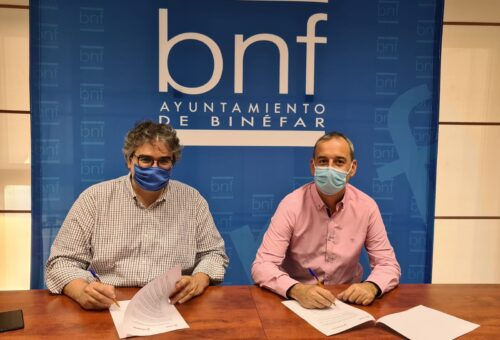 PSOE Binéfar y Ciudadanos firman un acuerdo de gobierno para la localidad